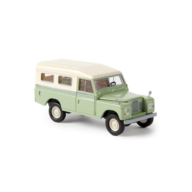 Land Rover 109 verte / toit beige - H0