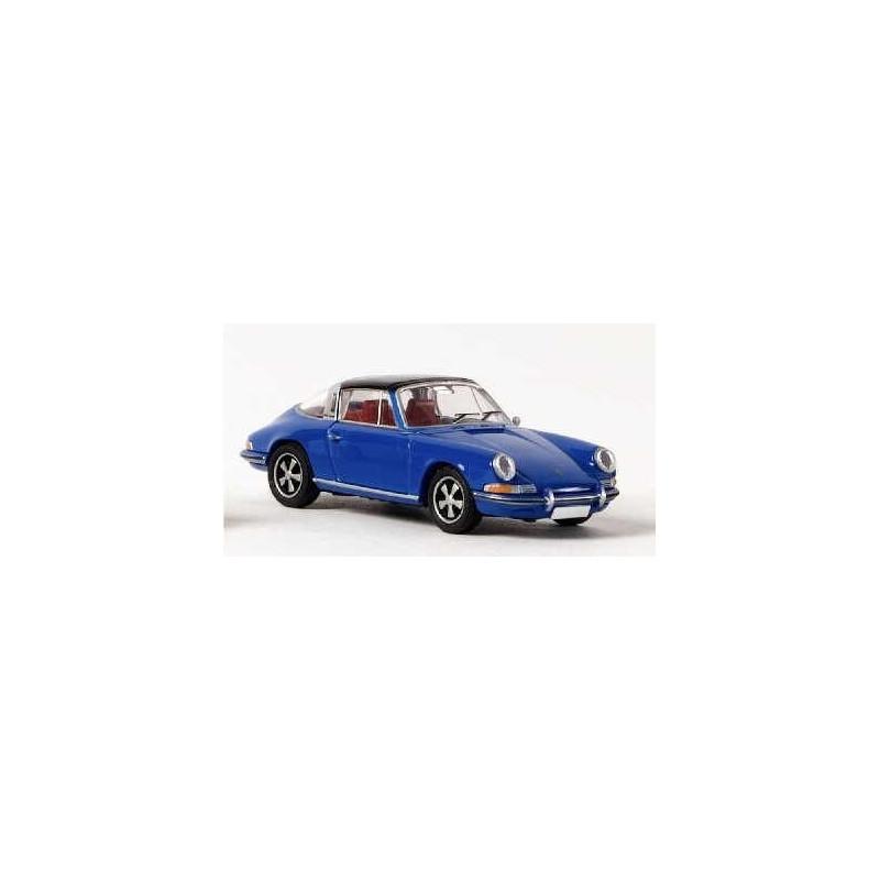 Porsche 911 E Targa bleue - époque III - H0