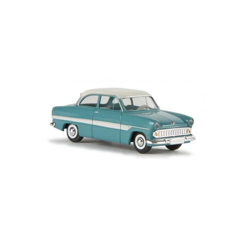 Ford 12 M bleu / blanc - époque III - H0