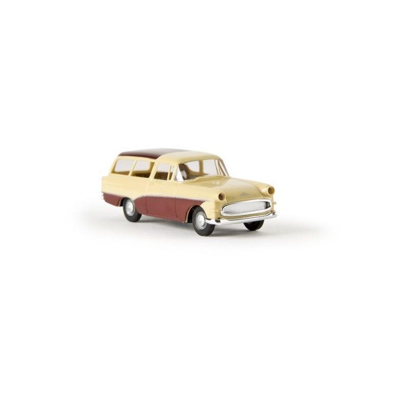 Opel Rekord P1 Caravan brun/beige - H0