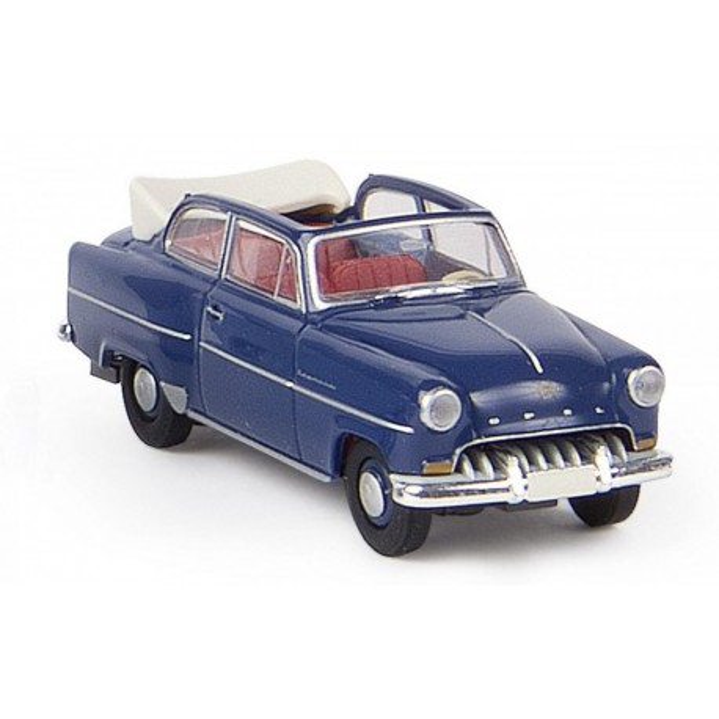 Opel Olympia cabriolet bleu saphyr - H0