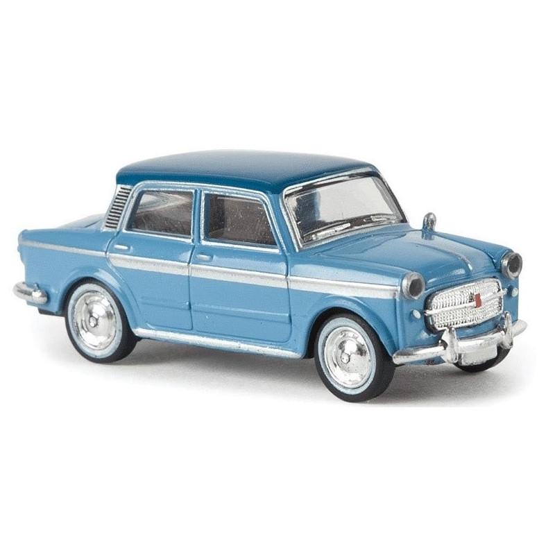 Fiat Grand Luxe bleu ciel / toit bleu foncé - H0