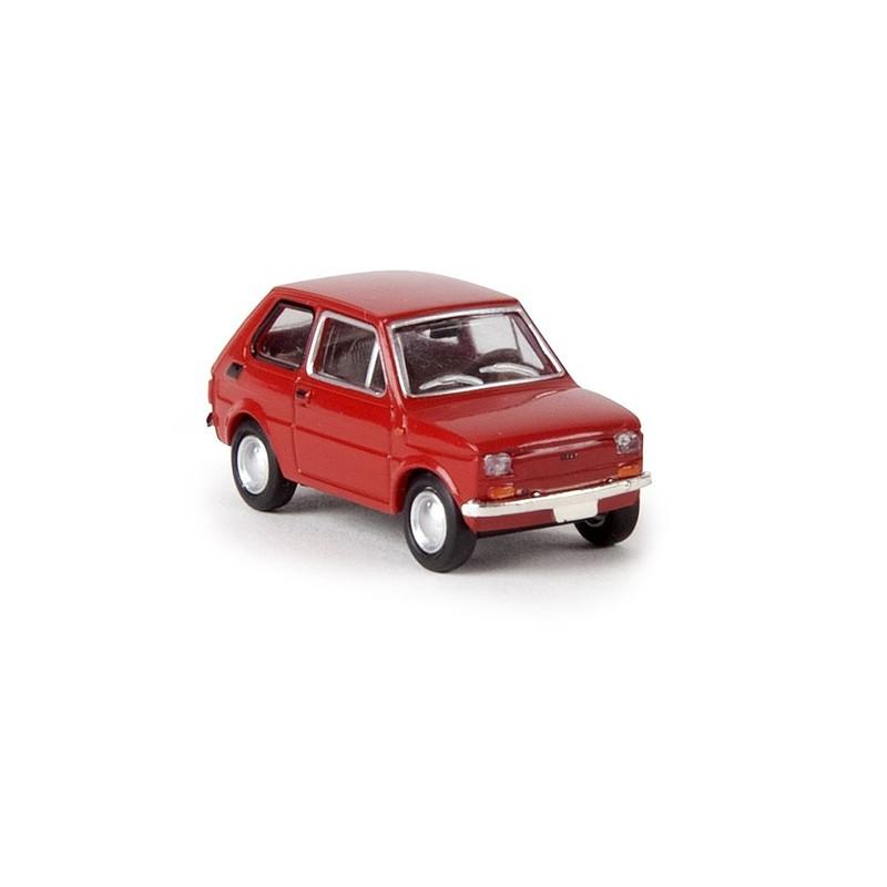 Fiat 126 rouge - H0
