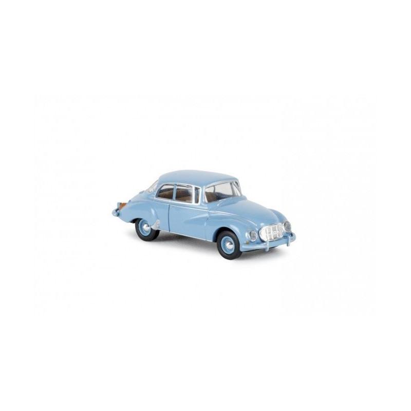Auto Union 1000 S berline bleu pastel - époque III - H0