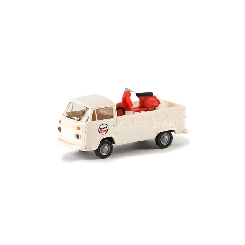 VW T2 plateau + Vespa - époque III - H0