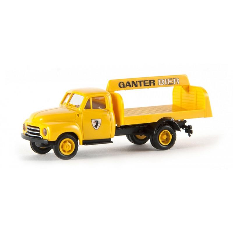 Opel Blitz enseigne Ganter Bier - H0