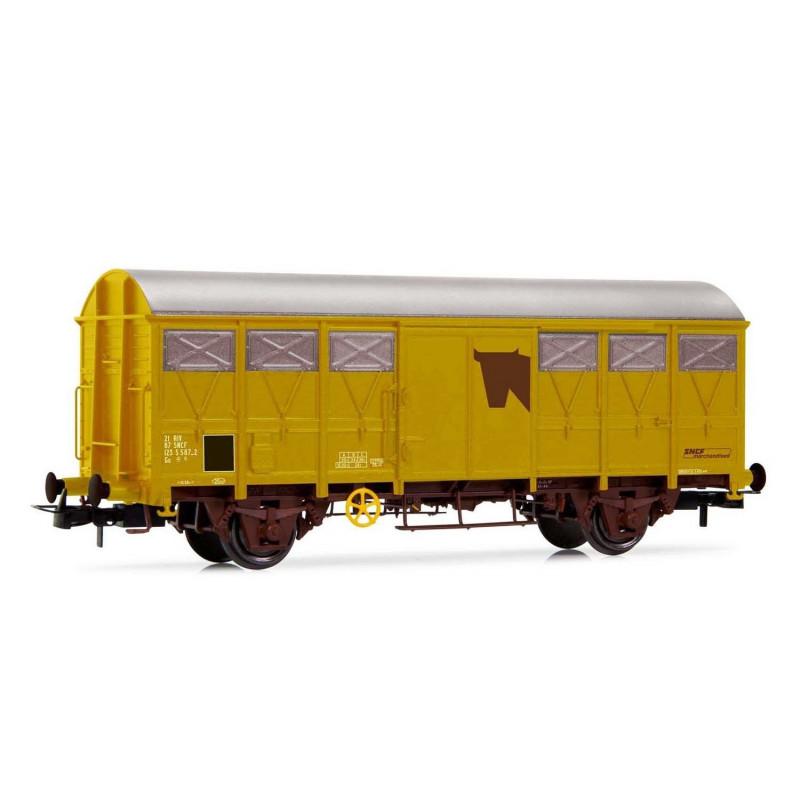Couvert G41 pour le transport de bétail - livrée jaune