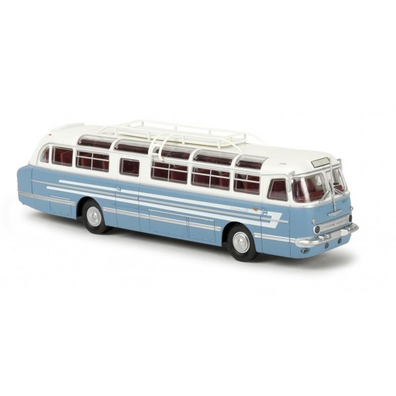 Autocar Ikarus 55 blanc / bleu - H0