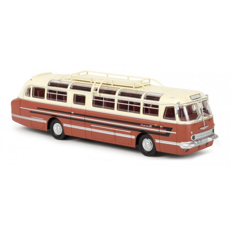 Autocar Ikarus 55 ivoire / rouge corail - H0