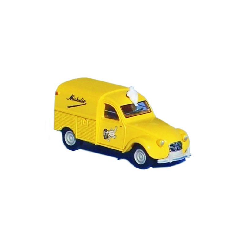 2CV fourgonnette AZU 1961 enseigne Michelin + Bibendum - H0