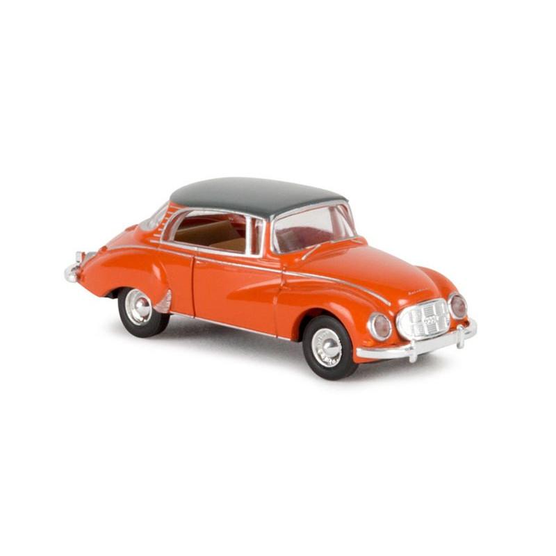 Auto Union 1000 S Coupé orange et gris - époque III - H0