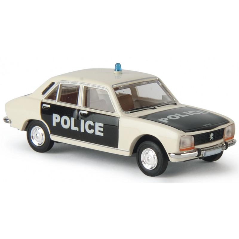 504 Peugeot - Police - pie - époque III - H0