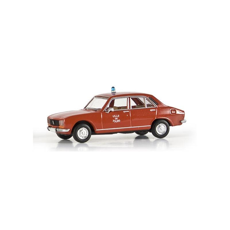 504 Peugeot - Pompiers de Tours - époque III - H0