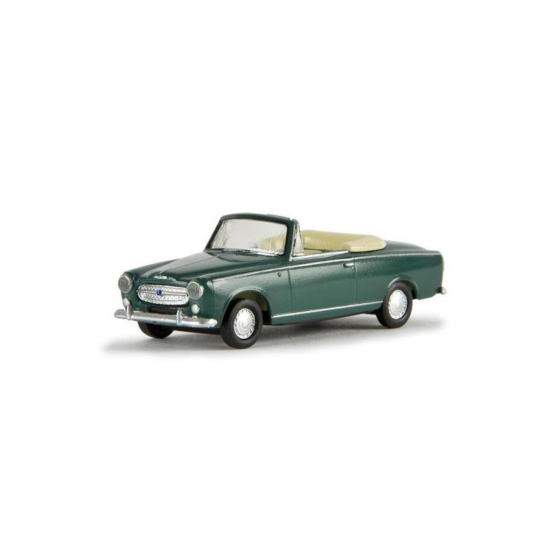 403 cabriolet vert métallisé - H0