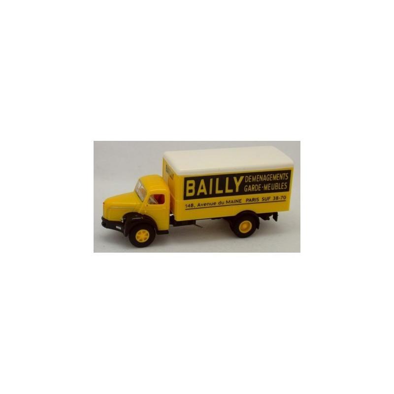 GLR 8 Berliet tôlé enseigne Bailly - H0