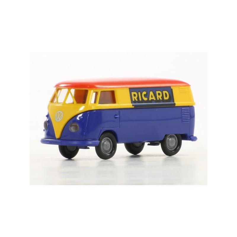 """VW T1 b enseigne """"RICARD"""" - époque III - H0"""