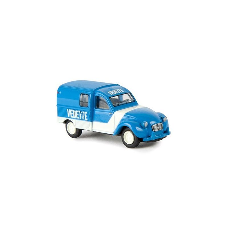 "2CV AZU Fourgonnette 1961 - enseigne ""VEDETTE"" - époque III - H0"
