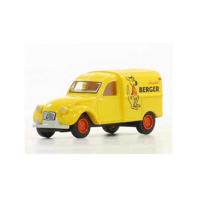 "2CV fourgonnette AZU 1961 - enseigne ""Berger"" - H0"