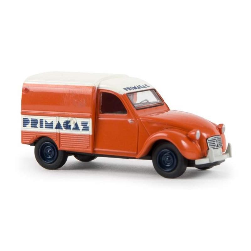 "2CV fourgonnette AZU 1961 - enseigne ""Primagaz"" - H0"