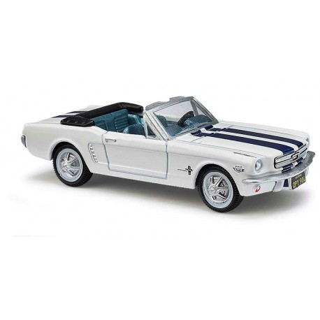 Ford Mustang 1965 blanche bandes bleues - H0