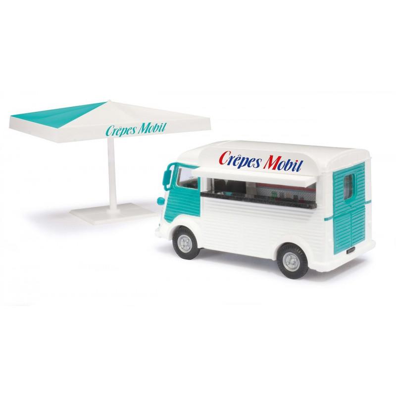 """Camionnette H """"tube"""" vente de crèpes - H0"""