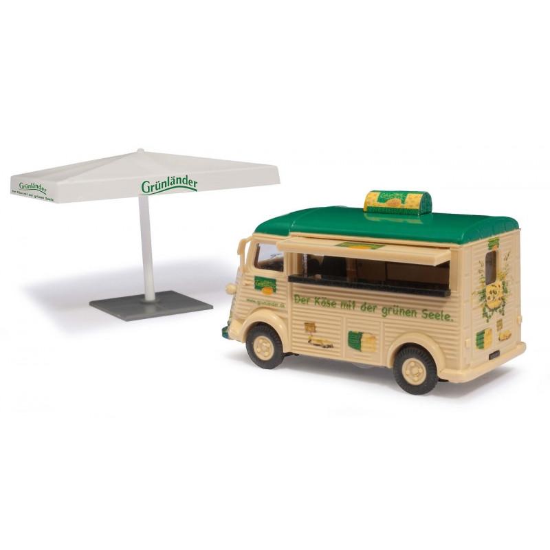 """Camionnette H """"tube"""" vente ambulante de fromage - H0"""