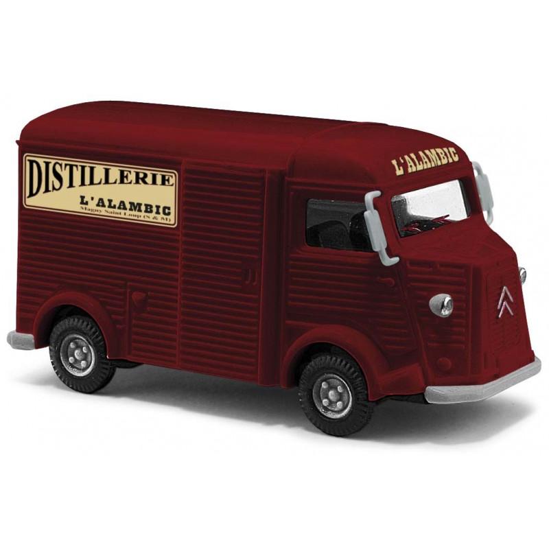 """Citroën Camionnette H """"tube"""" enseigne Distillerie l'Alambic - H0"""