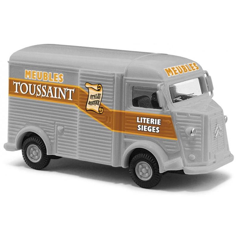 """Citroën Camionnette H """"tube"""" enseigne Meubles Toussaint - H0"""