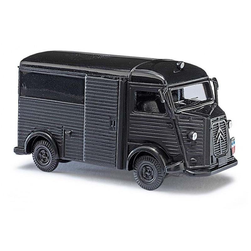 """Citroën Camionnette H """"tube"""" police - noire - H0"""
