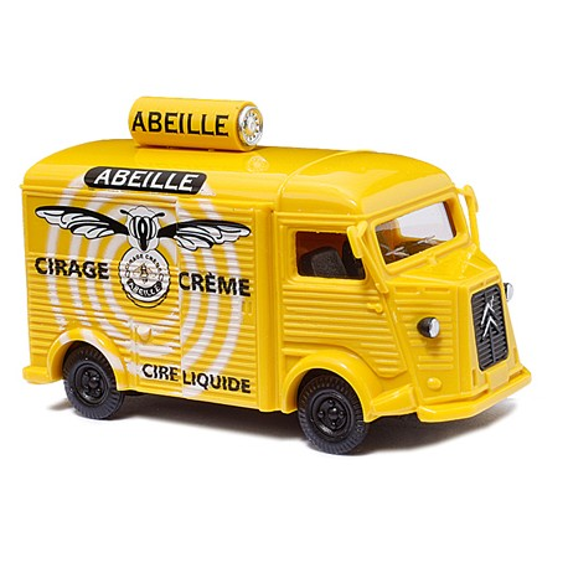 """Citroën Camionnette H """"tube"""" enseigne Abeille - H0"""