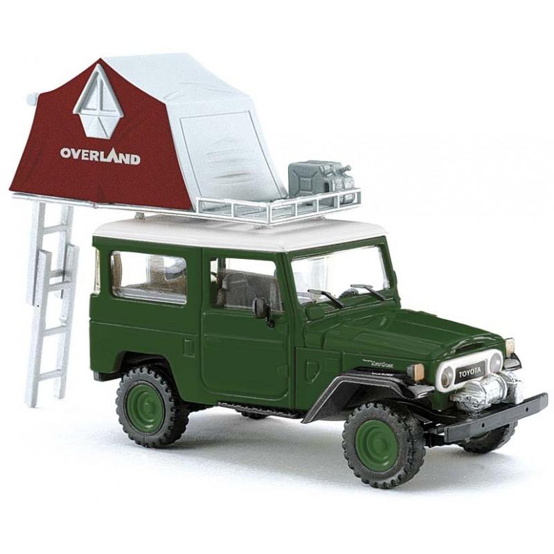Land Cruiser vert + tente - H0