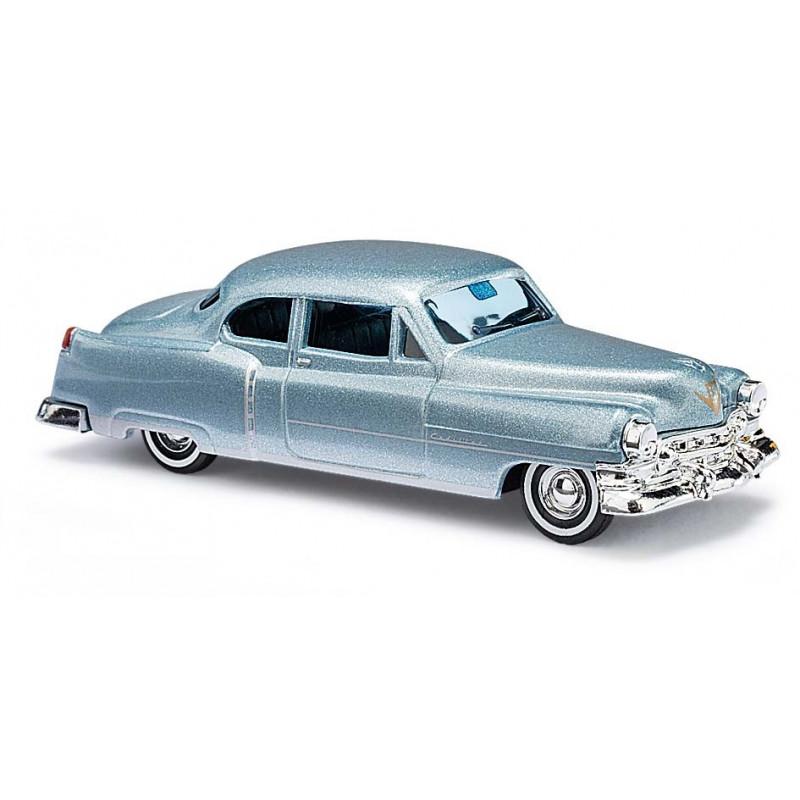 Cadillac coupé bleu métalisé - H0