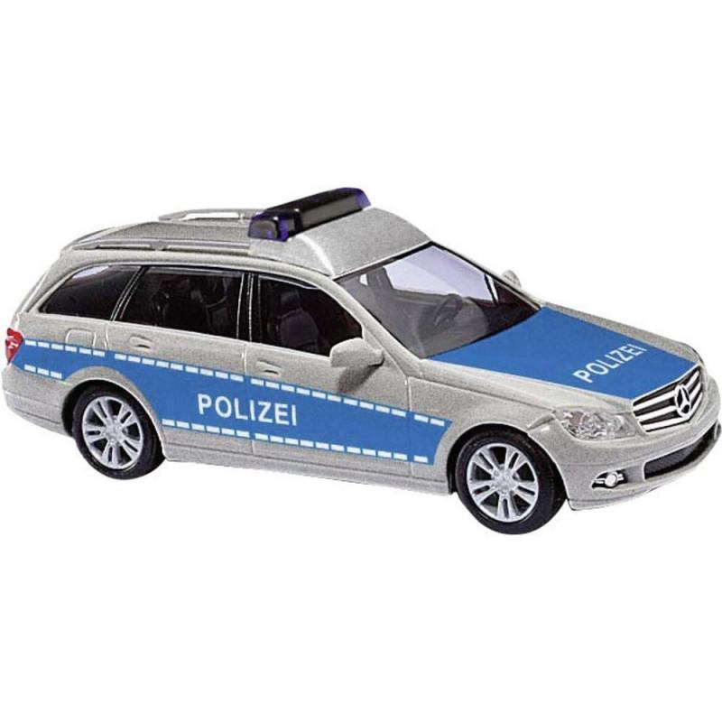 "Mercedes Benz Classe C break ""Police"" bleue - H0"