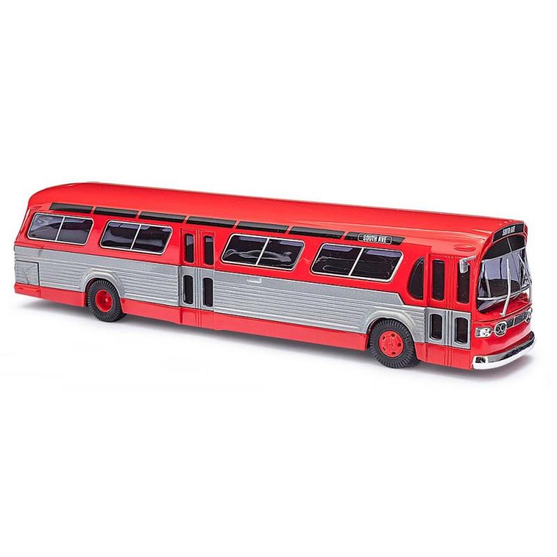 """Bus US GMC TDH-5301 """"fishbowl"""" rouge - H0"""