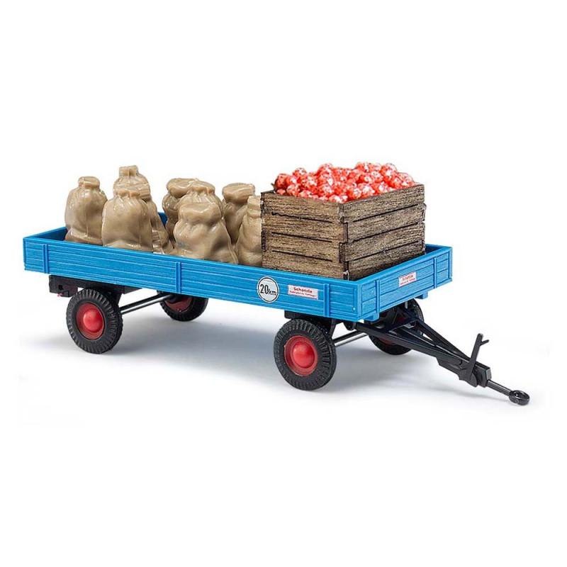 Remorque + chargement pommes - H0