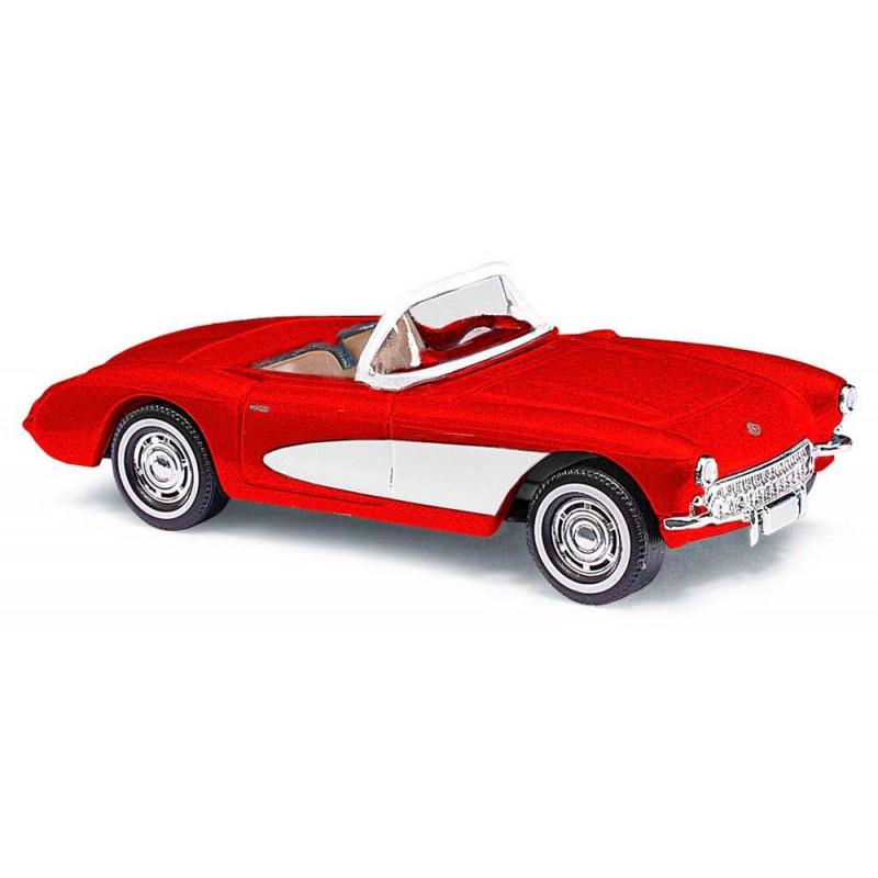 Chevrolet Corvette cabriolet 1956 rouge et blanche - H0