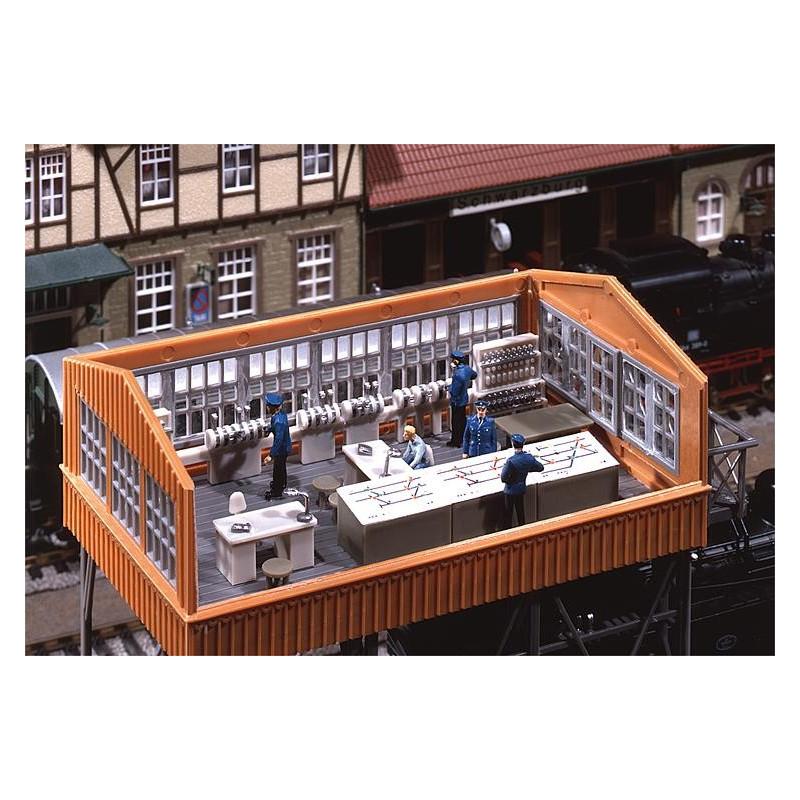 Aménagement intérieur pour poste d'aiguillages