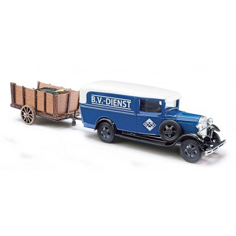 Ford modèle AA + charette - H0