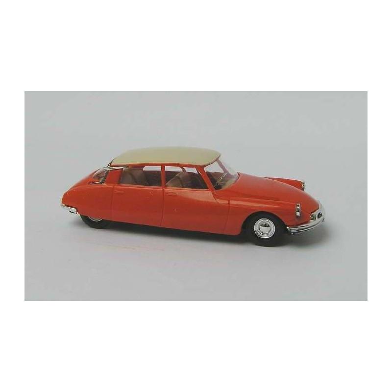 Citroën DS 19 1955 orange/toit blanc - H0