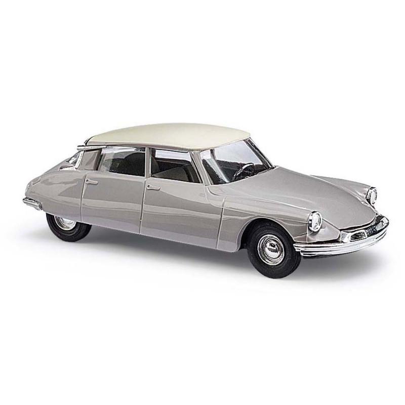 Citroën DS 19 grise / toit blanc - H0