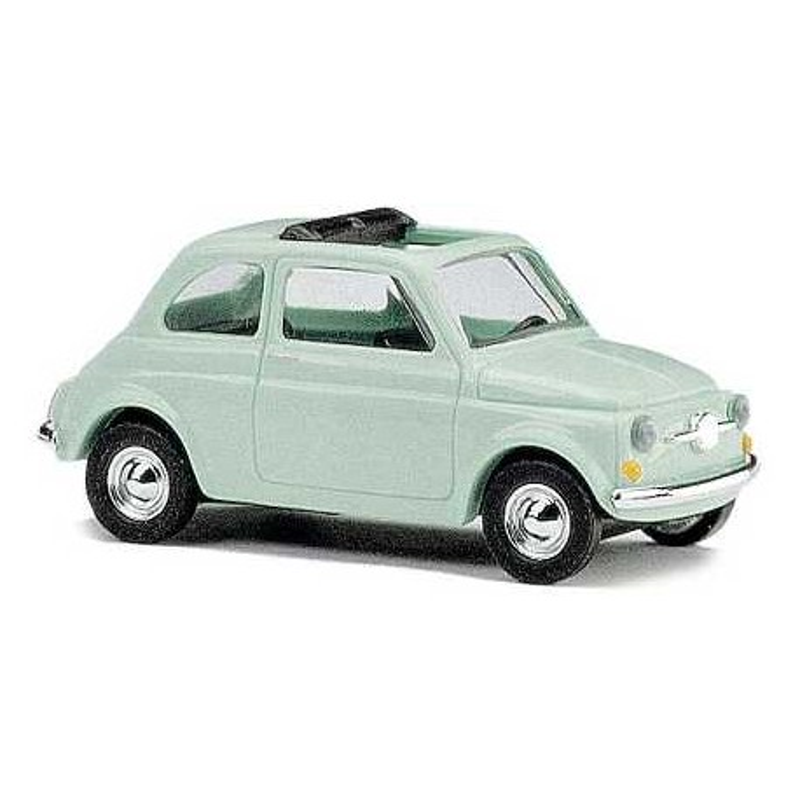 Fiat 500 F 1965 verte toit ouvert - H0