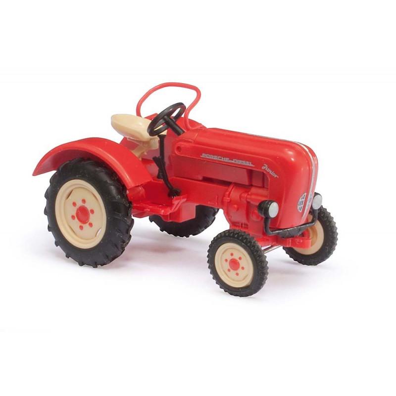 Tracteur Porsche Junior K rouge - H0