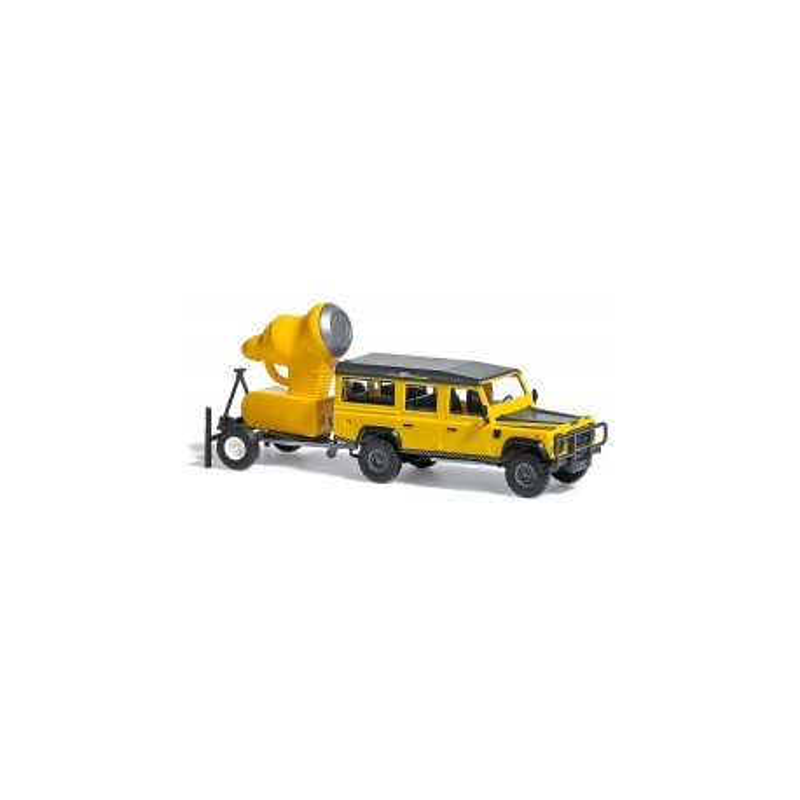Land Rover Defender + canon à neige - H0