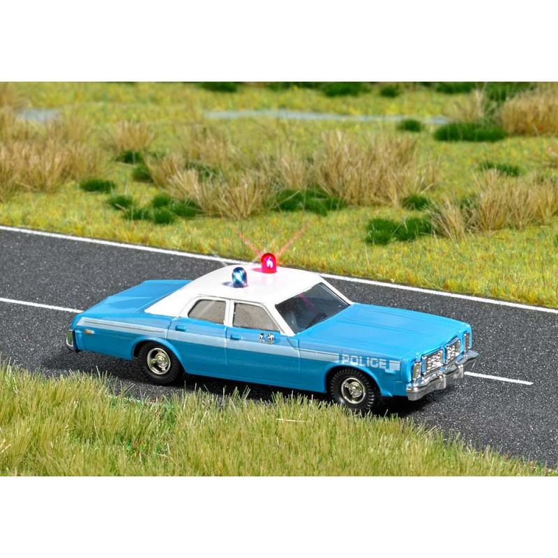 Dodge Monaco Police avec feux clignotants rouge et bleu - HO