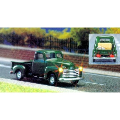 Chevy pick-up + phares AV/AR fonctionnels - H0