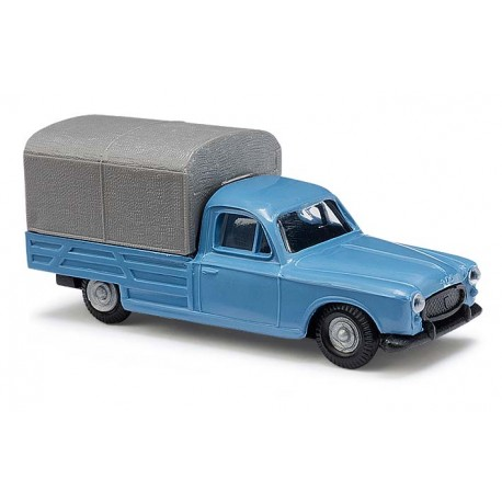 Peugeot 403 pick-up bâché bleue - H0
