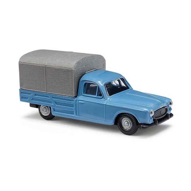 Peugeot 403 pick-up bâché bleue - H0