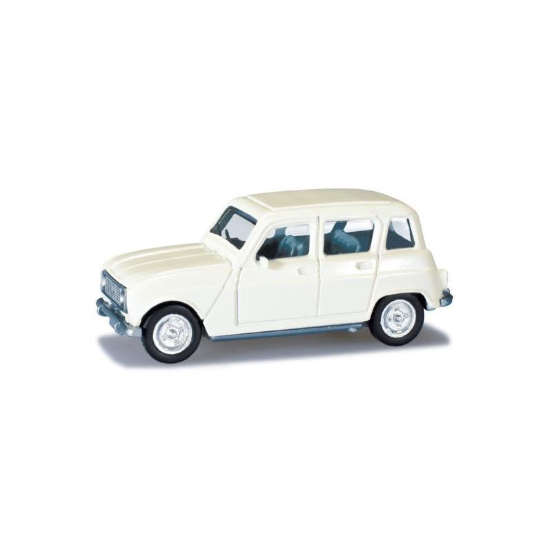 Renault R4 grise claire - H0
