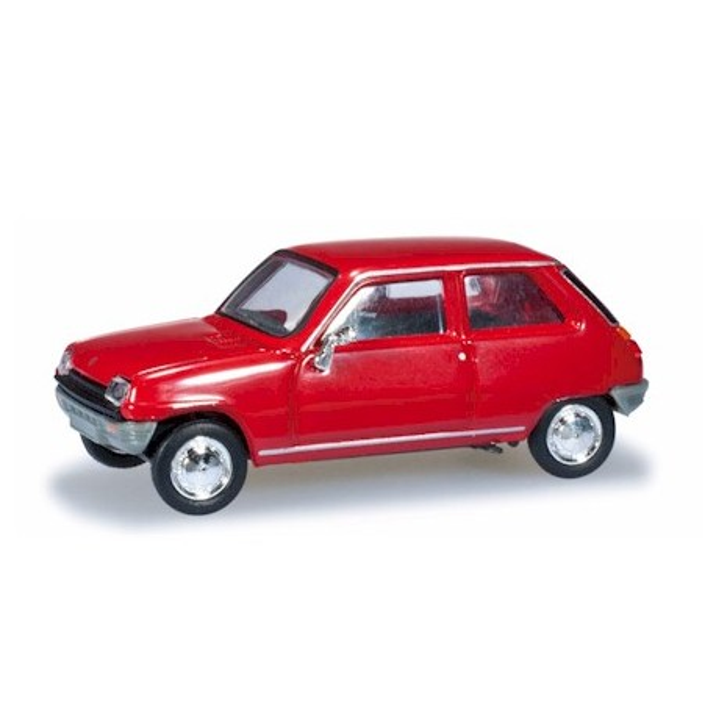 Renault R5 rouge - H0