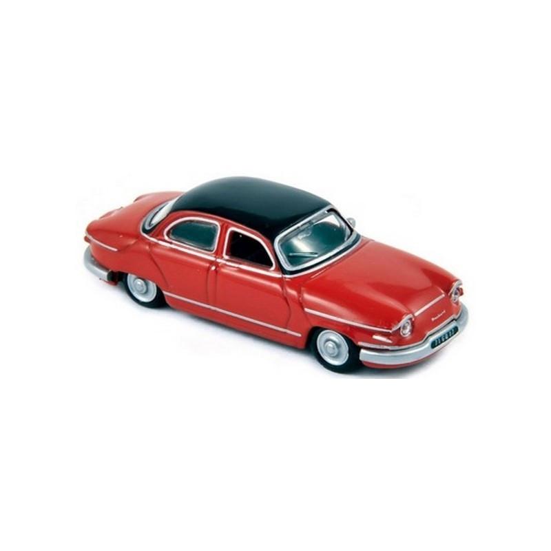 Panhard PL 17 1961 - rouge cornaline/noir-de-jais - H0